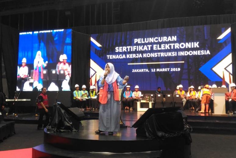 Peluncuran Sertifikat Elektronik Tenaga Kerja Konstruksi Indonesia